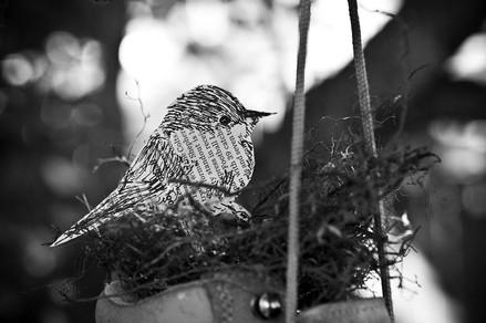 Bird in Shoe, based on a Charlie Harper Print