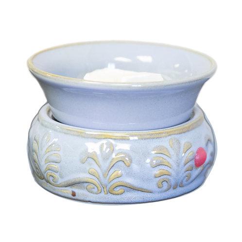 Blue Fleur De Lis Electric Warmer
