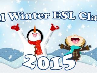 Winter English Class 2015                ウィンター幼児英語クラス2015