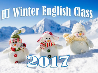Winter English Class 2017        ウィンター幼児英語クラス2017