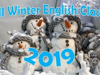 Winter English Class 2019        ウィンター幼児英語クラス2019