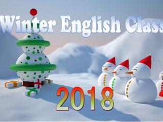 Winter English Class 2018              ウィンター幼児英語クラス2018