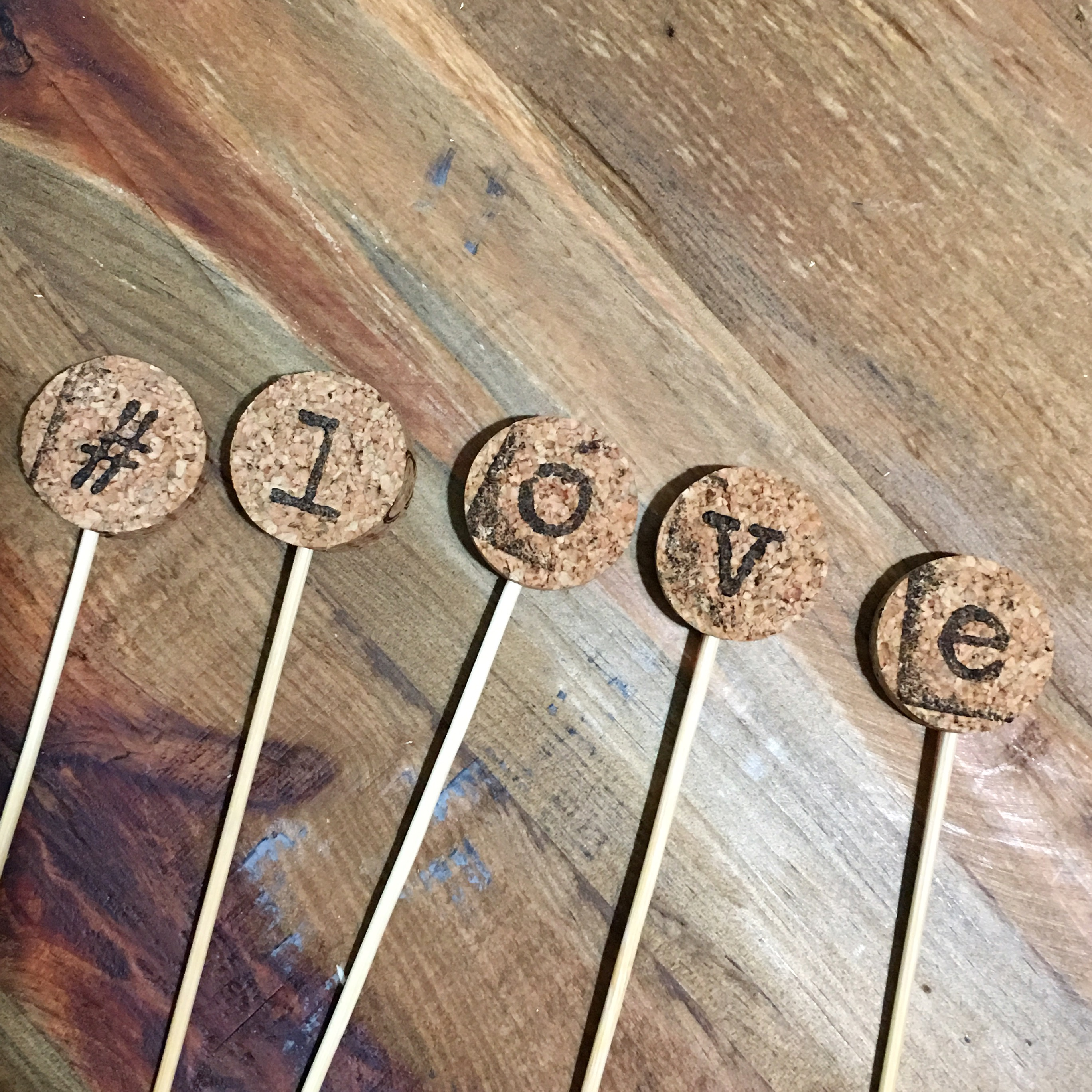 #LOVE Cupcake Toppers