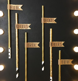 Gold Leaf Photo Prop Straws