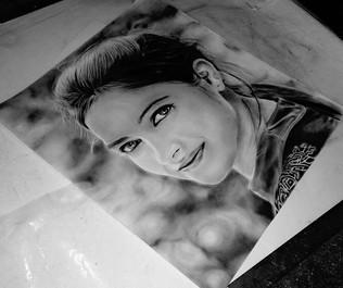 A girl's sketch