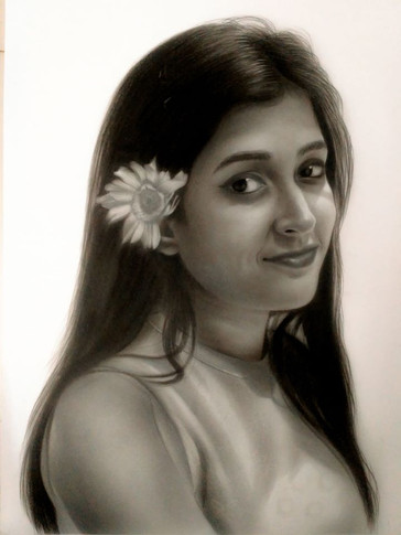 Pencil Sketch of a Girl