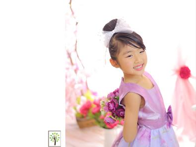 さくらちゃん ~七五三7歳 ドレス撮影~