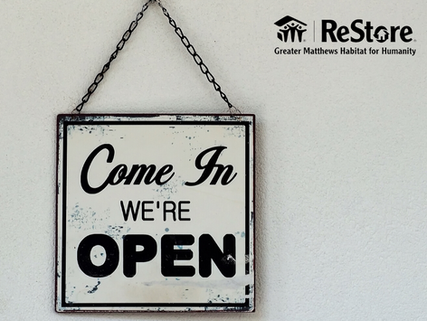 ReOpening our ReStore!