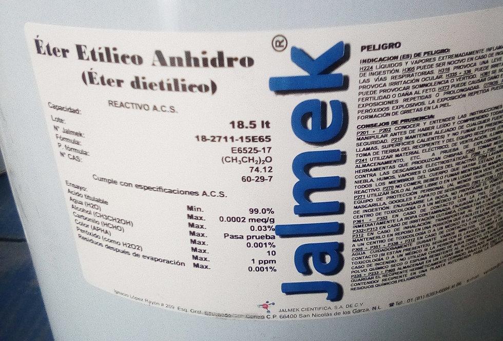 Eter Etilico Anhidro-lata 18.5Lt-Jalmek