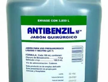 Antibenzil-Jabón quirurgico