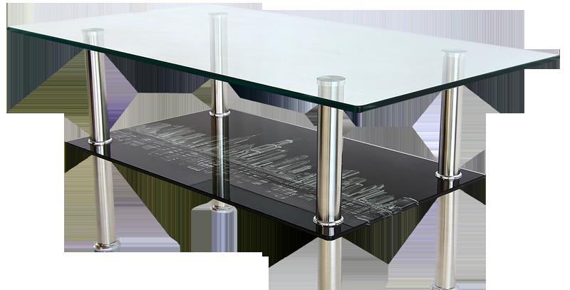 โต๊ะกลาง 90 cm. (ท็อปกระจก)  รุ่น วิว/VIEW