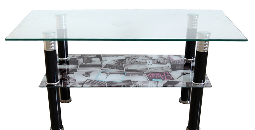 โต๊ะกลาง 90 cm. (ท็อปกระจก) รุ่น โคโลญจน์/COLOGNE