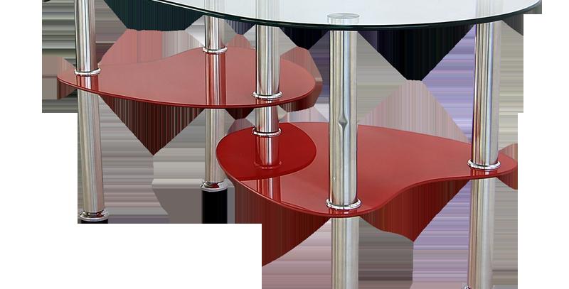 โต๊ะกลาง 90 cm. (ท็อปกระจก)  รุ่น กูฟฟี่/GOOFY