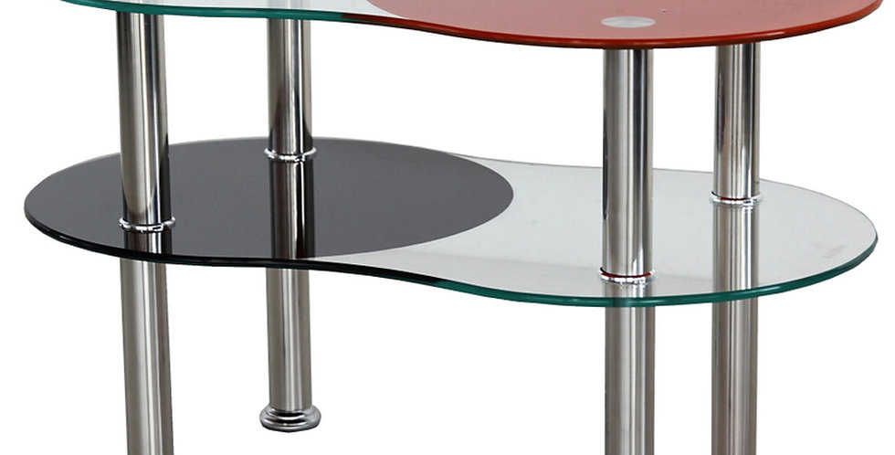 โต๊ะกลาง 70 cm. (ท็อปกระจก)  รุ่น นัท