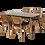 Thumbnail: ชุดอาหารไม้ยางพารา 4 ที่นั่ง รุ่น มันเดย์/MONDAY