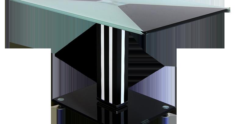 โต๊ะกลาง 70 cm. (ท็อปกระจก)  รุ่น โรส/ROSE