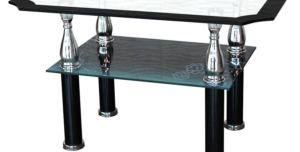 โต๊ะกลาง 70 cm. (ท็อปกระจก)  รุ่นเบลล์