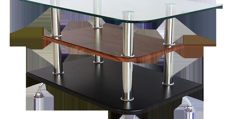 โต๊ะกลาง 70 cm. (ท็อปกระจก)  รุ่น ซีซัน