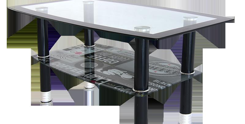 โต๊ะกลาง 90 cm. (ท็อปกระจก)  รุ่น เคิฟ/CURVE