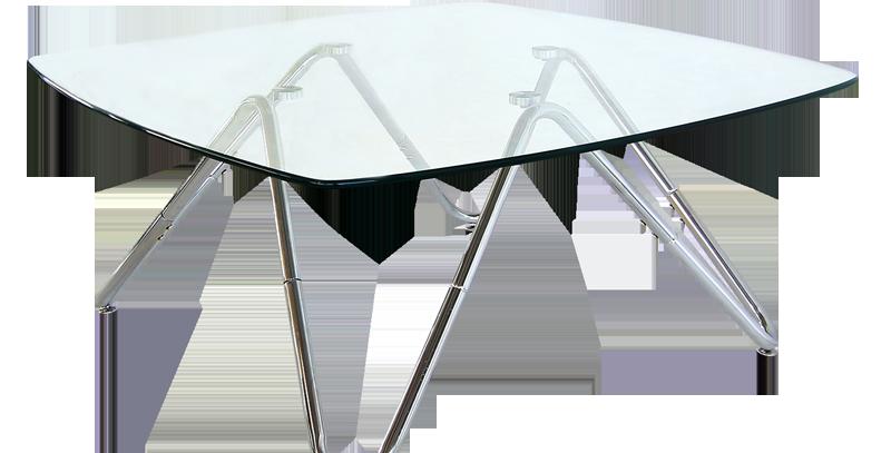 โต๊ะกลาง 90 cm. (ท็อปกระจก) รุ่น ไซคลาแมน/Cyclamen