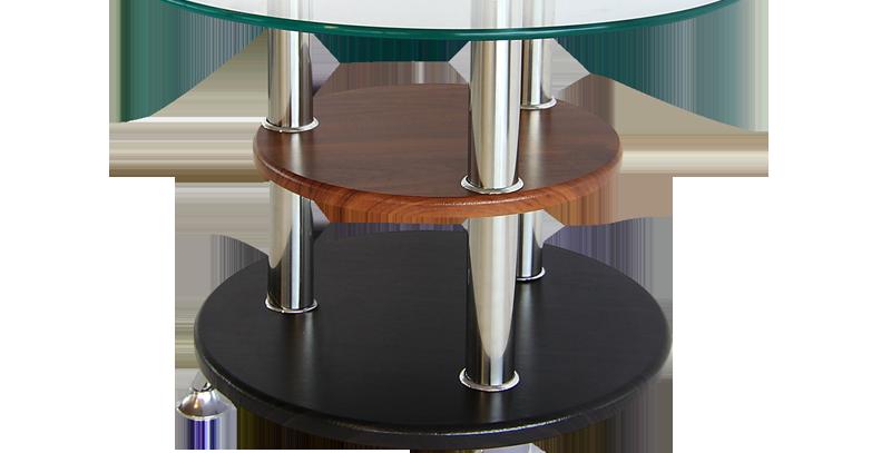 โต๊ะกลาง 50 cm. (ท็อปกระจก) รุ่น ราวดี้