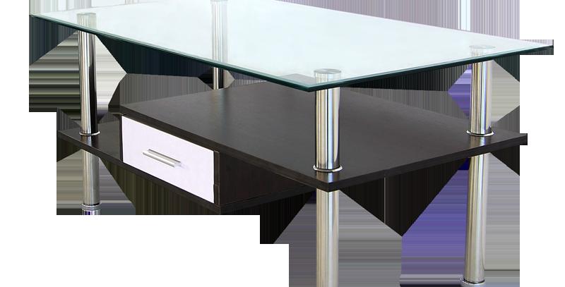 โต๊ะกลาง 90 cm. (ท็อปกระจก)  รุ่น เคนโด้/KENDO