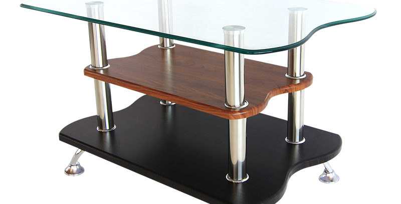 โต๊ะกลาง 70 cm. (ท็อปกระจก)  รุ่น  รีเพลย์
