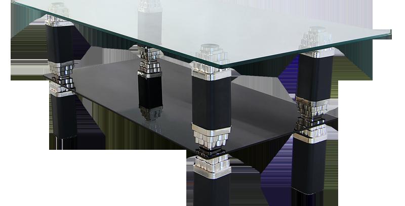 โต๊ะกลาง 106 cm. (ท็อปกระจก) รุ่น ออลีนส์