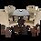 Thumbnail: ชุดอาหารไม้ยางพารา 4 ที่นั่ง รุ่น มาร์โค่&ลอร์เรน/MARCO&LORRAINE