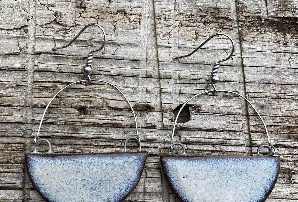 Mountain Frost Half Moon Earrings