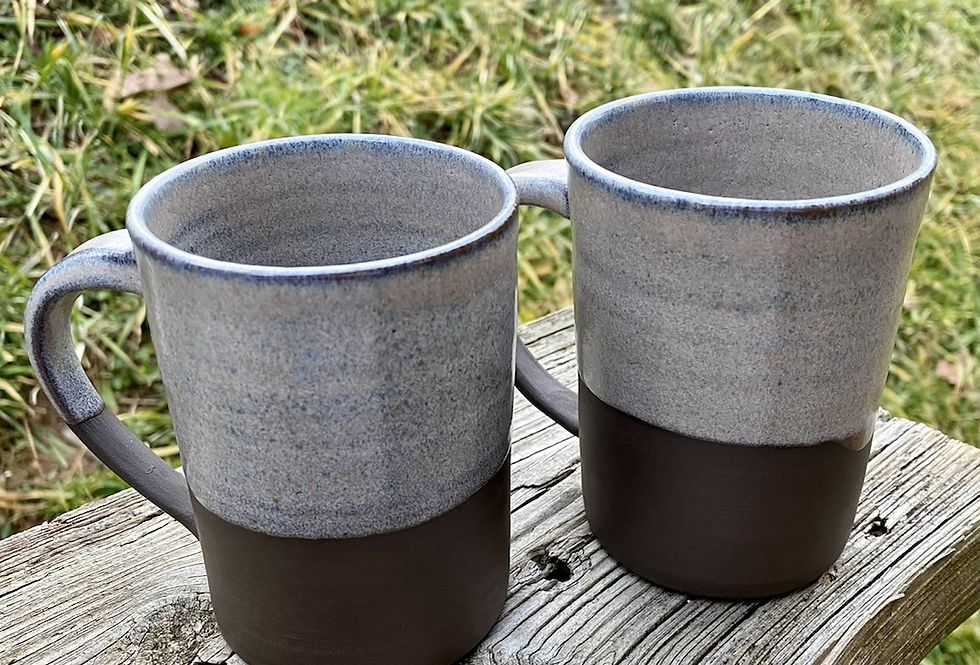 Pair of Two Mountain Frost Mugs