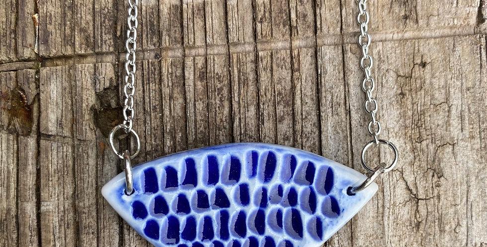 Carved Cobalt necklace