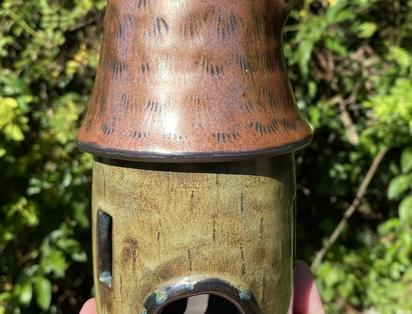 Copper Roof Castle Fairy House/luminary