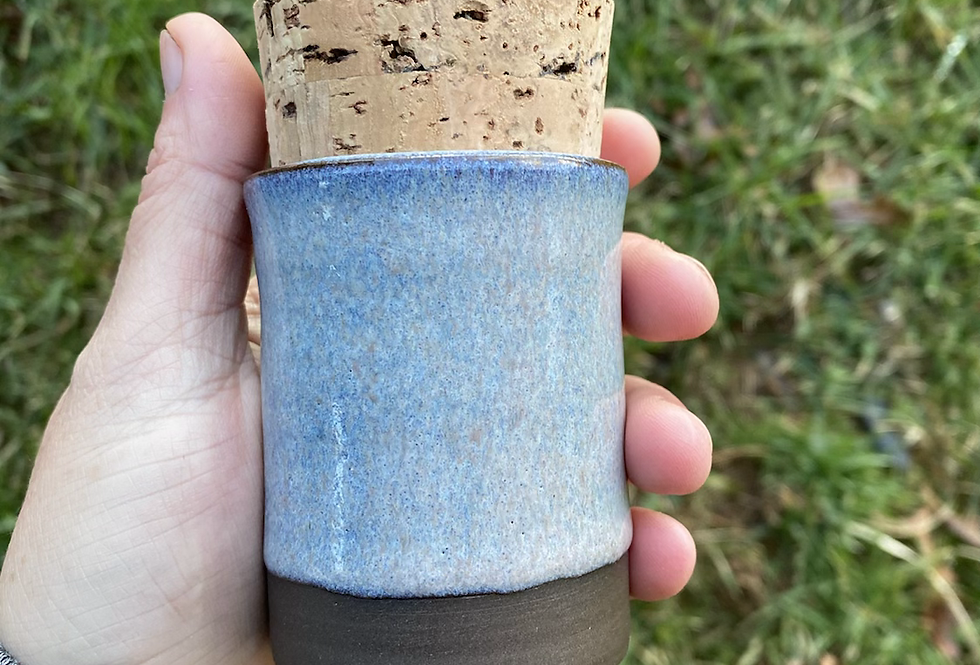 Ice Blue stash jar #2