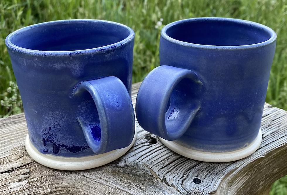 Set of two mugs, Matte Blue