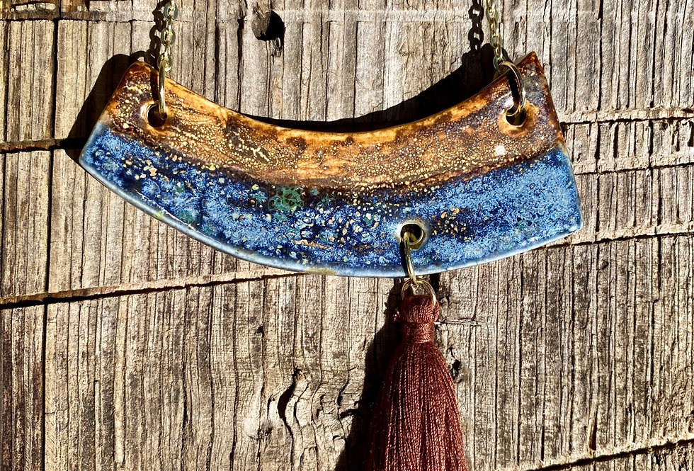 Sand and Sky crescent necklace