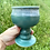 Thumbnail: Pair of Turquoise and Snow Goblets