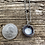 Thumbnail: Small Mountain Frost Cupped Necklace