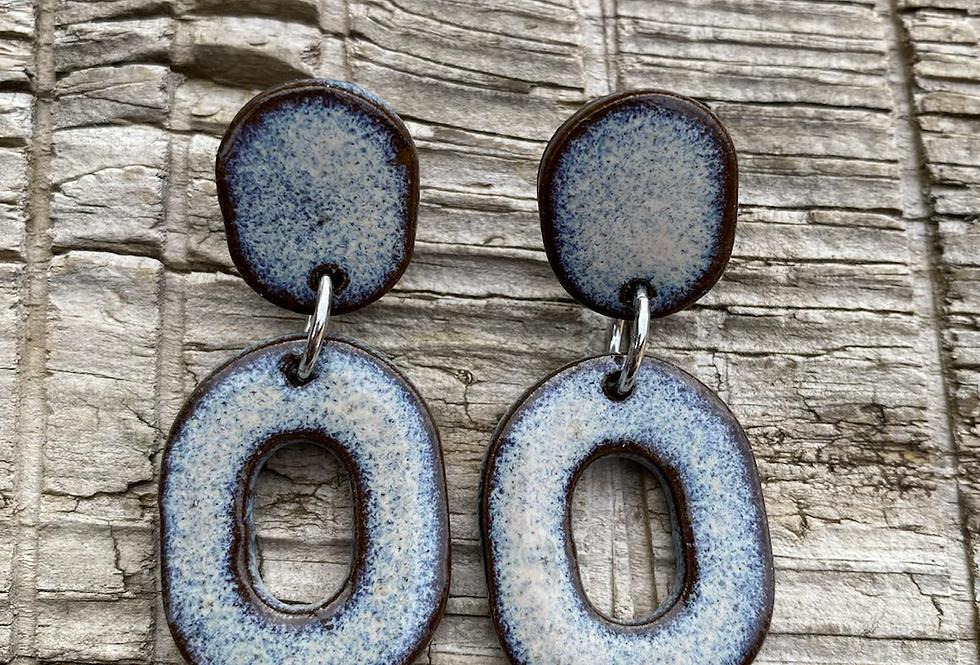 """Mountain Frost """"Big O"""" Earrings"""