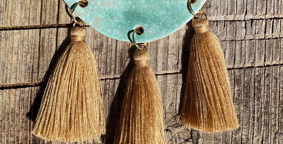 Turquoise Sand Tassel Necklace