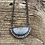 Thumbnail: Mountain Frost Carved Half Moon Necklace