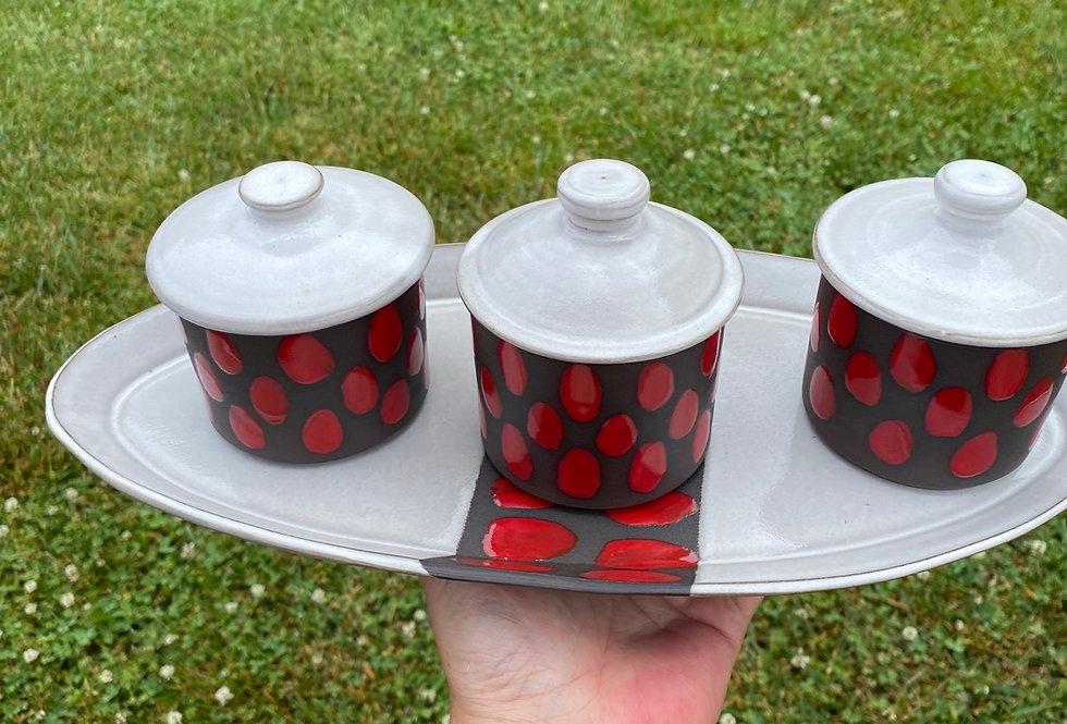 Jar and Tray set