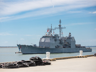 USS LETYE GULF CG 55 Homecoming