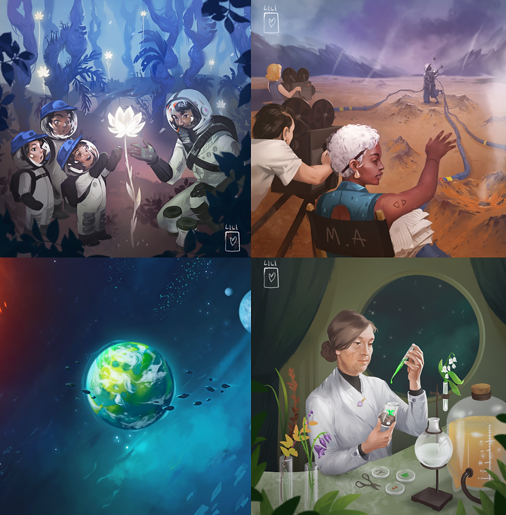 Card illustrations for unannounced project