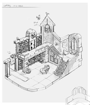 Witchbrook: building concept art