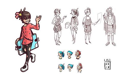 Pokémon Art Academy: character concept art