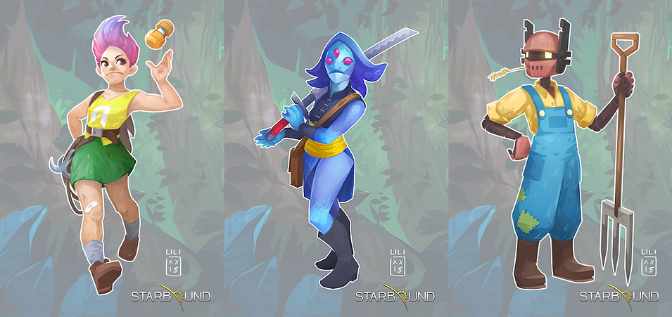 Starbound: characters