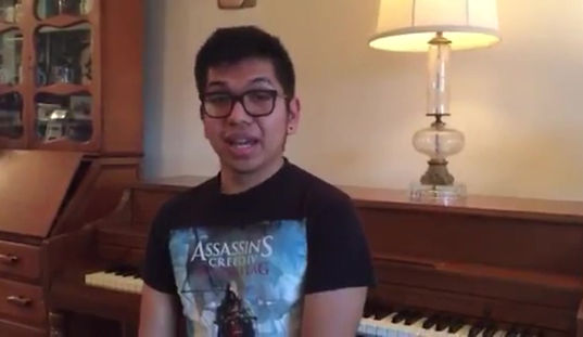 Singing Student Moises D.