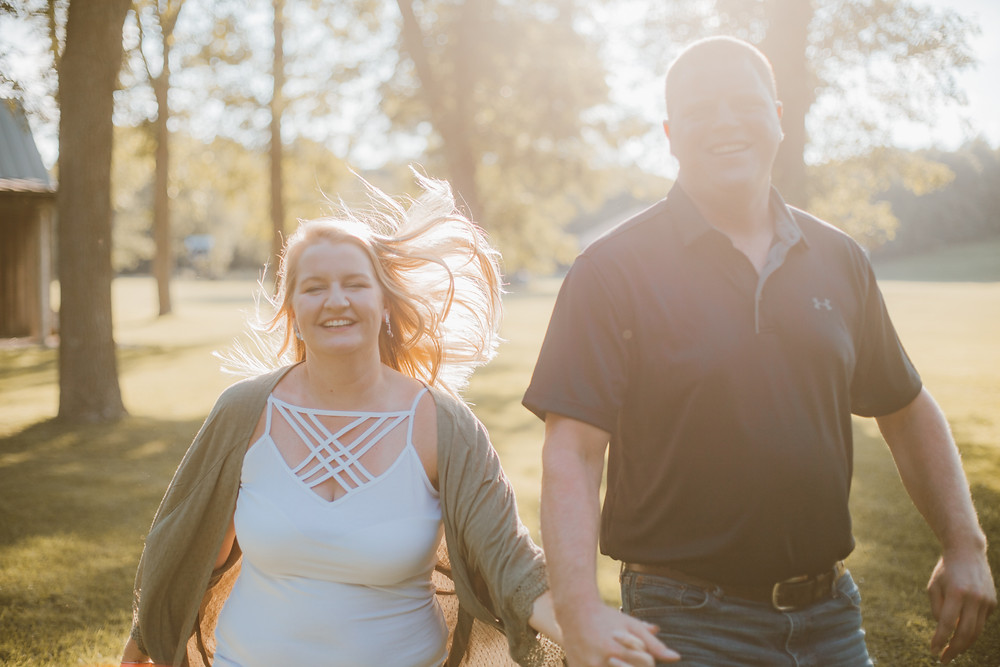Lifestyle engagement session at Grignon Mansion and Park in Kaukauna, WI.