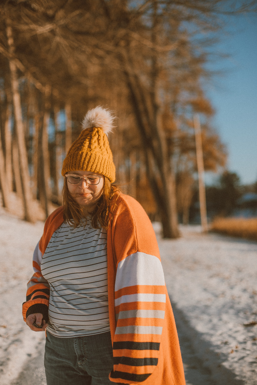 Cozy, winter Self-portrait by Anna Gutermuth.